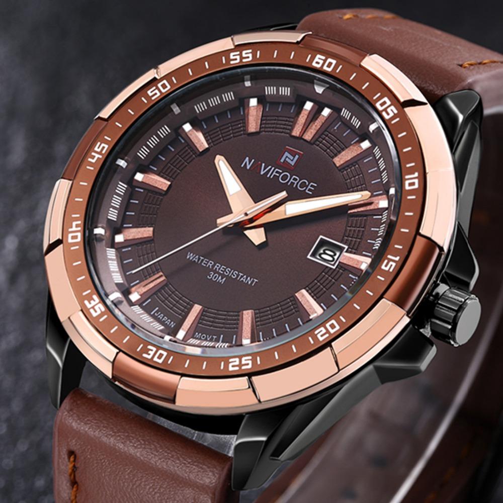 a261b156123 ... Luxury Brand Men Casual Watch Quartz Hour Date Clock Men Sport Watches  Men s Leather Military Wrist Watch Relogio Masculino. 🔍. 1  2