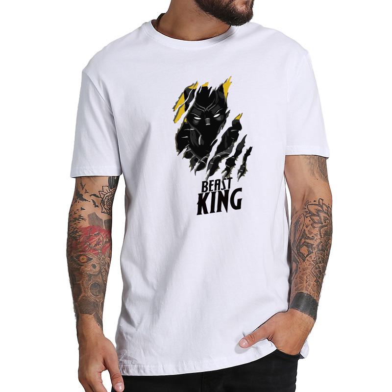 Black Panthers T Shirt Wakanda Africa Map Cool Design T Shirs Men