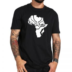 9763c2601080 Black Panthers T Shirt Wakanda Africa Map Cool Design T-shirs Men Cartoon  Printing Tee Fans Gift Boys Summer Tops