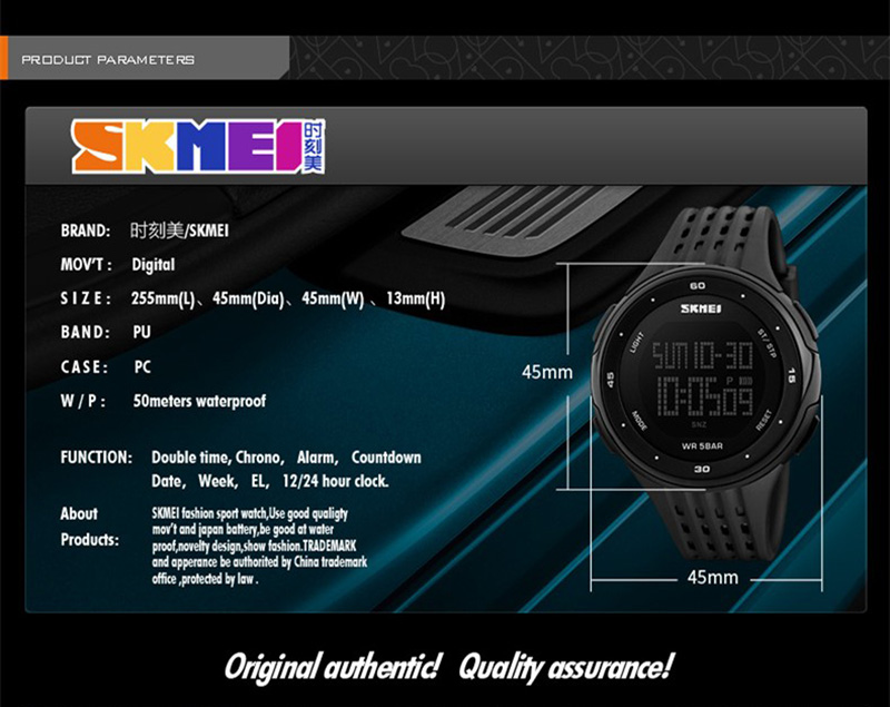 ... WatchesMens Watches Top Brand Luxury SKMEI Military Sports Watch Men Digital Waterproof LED Wrist Watch Outdoor Man relojes hombre 2017. 🔍. 1; 2